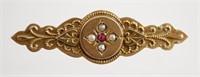 9k Gold Antique Bar Pin