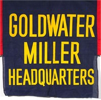 BARRY GOLDWATER Campaign Headquarters Banner
