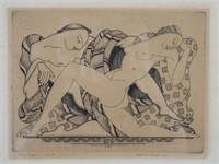 ALEXANDER CANARD, Etching, Dance Figure