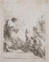 FRAGONARD, Etching, Jesus Preaching