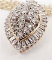 14k Gold Diamonds Necklace