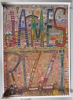 JAMES RIZZI, Signed Poster, 1980s
