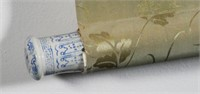 Signed Chinese Scroll Painting, Porcelain