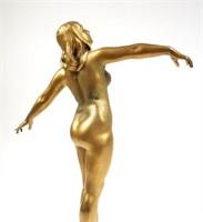 NUDE Gilt Bronze Sculpture
