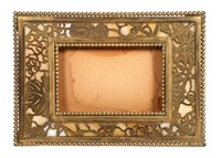 TIFFANY Slag Glass & Bronze Desk Calendar