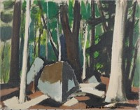 SIDNEY LAUFMAN, Oil on Mounted Canvas, Landscape