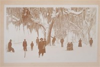 Snow in FLORIDA Cabinet Card Photograph