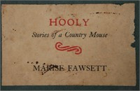 BOOK: MARISE FAWSETT, Hooly, Country Mouse, 1939