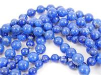 "36"" Lapis Lazuli Necklace 14k Clasp"
