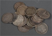 (21) Morgan Silver Dollars $1