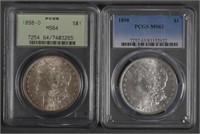 (2) 1898 Morgan Silver Dollars $1