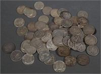 (70) Silver 90% US Half Dollars 50c