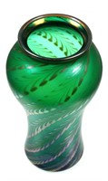 CORREIA Art Glass Pulled Feather Vase