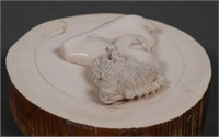 African Antique Ivory Nude Plaque