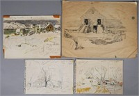 JAY CONNAWAY, (4) Painting Studies