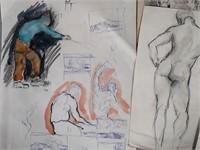 JAY CONNAWAY, Group of Sketchbook Pages