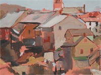 JAY CONNAWAY, Oil on Board Painting