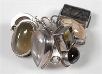 OBSIDIAN Designer Sterling Silver Bracelet