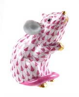 HEREND Porcelain Mouse Figurine