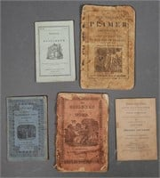 Five Early 1800s CHAPBOOKS