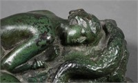 Bronze Nude with Snake, Unsigned
