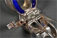 Italian Sterling & Enamel Buckle Bracelet
