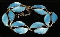 DAVID ANDERSEN Enamel Leaf Bracelet & Earrings