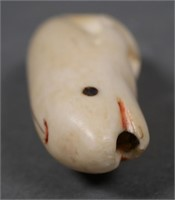 Inuit Carved Ivory Whale Miniature
