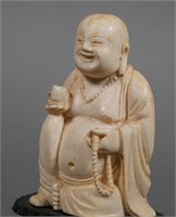 Antique Chinese Carved Ivory Buddha