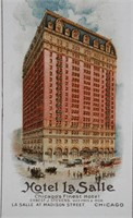 Chicago HOTEL LA SALLE Advertising