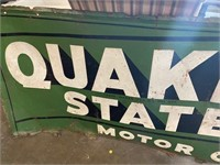 Vintage Metal Quaker State Sign