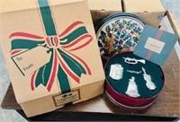 4 in box Longaberger Christmas Ornament lot