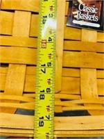 18 inch Longaberger Basket Handmade basket USA