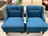 2 Blue Chairs