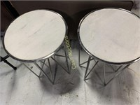 2 Tables, Marble Style Top