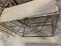 Table, Veneer Wood Top, Gray