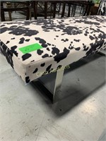Bench, Black & White Spotted Pattern