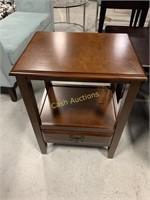 2 End Tables w/Drawers, Wood Veneer