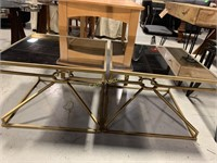 2 End Tables, Mirrored Top