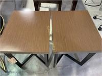 2 End Tables, Wood Veneer