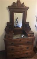 Beautiful Antique Marble Top Dresser