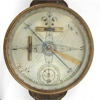 Fine Goldsmith Chandlee (Winchester, Shenandoah Valley of Virginia, 1751-1821) surveyor's compass
