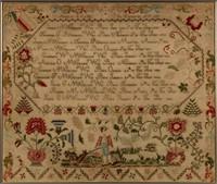 Extraordinary Tuckerton, NJ family record needlework sampler, dated 1838, of impressive size, Swinehart Collection