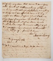 James Craig 1761 letter