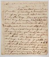 Important Colonial Virginia manuscript letter from silversmith James Craig Williamsburg, VA, dated 1761