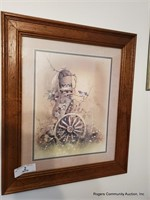 Decorative Picture & Pair Of Wall Hangings