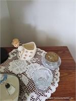 Mirrors, Angel Lamp, Swivel Swan Clock & Glass