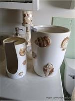 Seashell Themed Bathroom Accessories