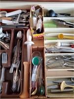 Silverware in Kitchen Drawer