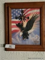 American Eagle Clock & Budweiser Clock